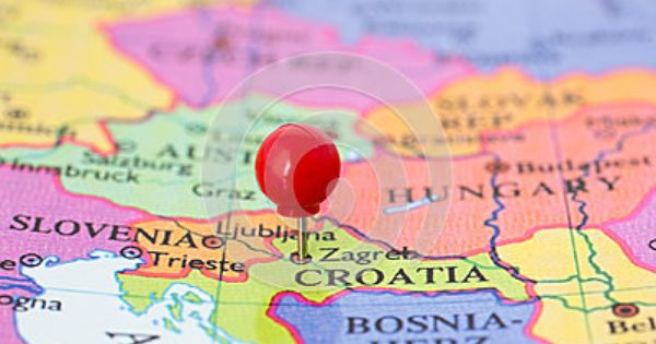 Red Pushpin On Map Of Croatia By Bigandt Via Dreamstime Croatia Map Zagreb Croatia Map