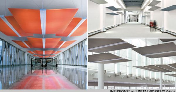 Infusion Ceiling System : Armstrong infusions metalworks wings adjustable to