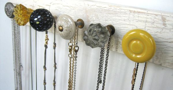 Necklace organizer or coat hooks