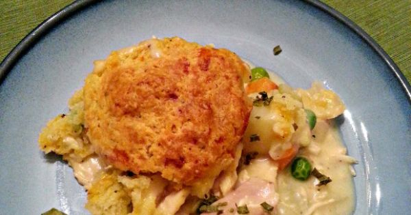 Turkey pot pies, Cheddar biscuits and Pot pies on Pinterest