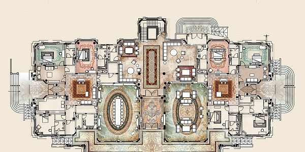 Villas Modenese Gastone Luxury Floor Plans House Plans Mansion Mediterranean Homes