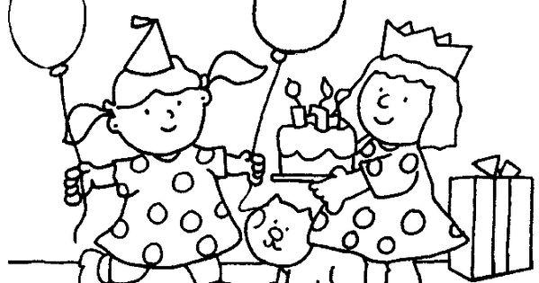 Verjaardag Ballon Kleurplaten Pinterest Verjaardag