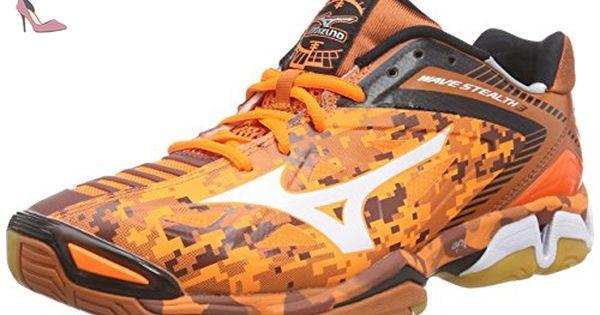 Mizuno Wave Stealth 3, Chaussures de Handball homme Orange