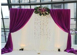 Free Shipping New Arrival White+Purple Ice Material Wedding