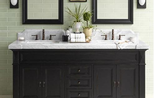 Black Bathroom Vanity Cabinet Marble Top Bathroom Pinterest