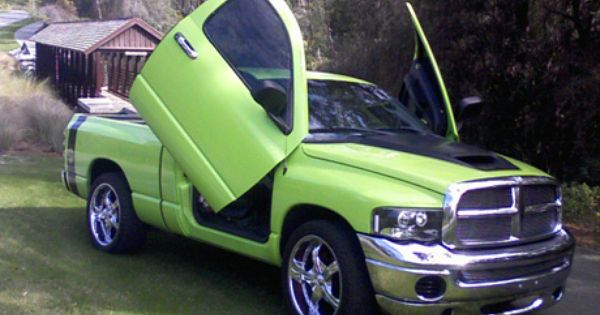 what a great lime green dodge ram truck not a lifted one but still great dodge ram trucks. Black Bedroom Furniture Sets. Home Design Ideas