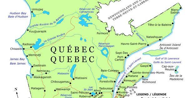 nunavut quebec map