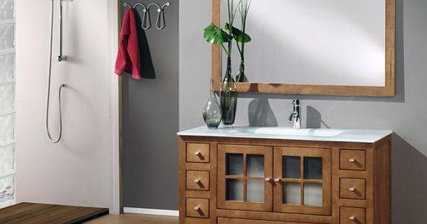 Mueble de ba o colonia 120 cm fabricado en madera natural - Mueble de bano diseno ...