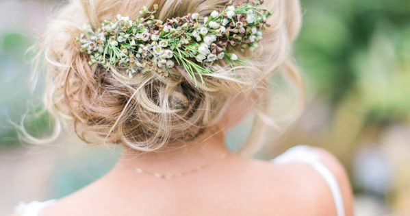 California Wedding in the San Diego Gardens - wedding hairstyle. photo: Troy