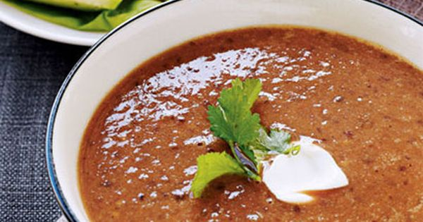 Roasted Tomato and Black Bean Soup Recipe Picture