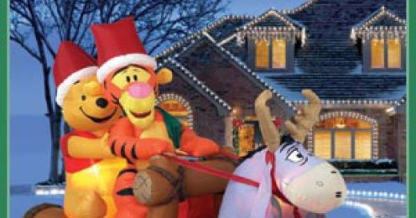 Winnie the pooh eeyore and outdoor christmas on pinterest
