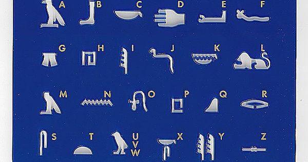 Hieroglyphen Schablone der gypter f r Schulen hier kaufen