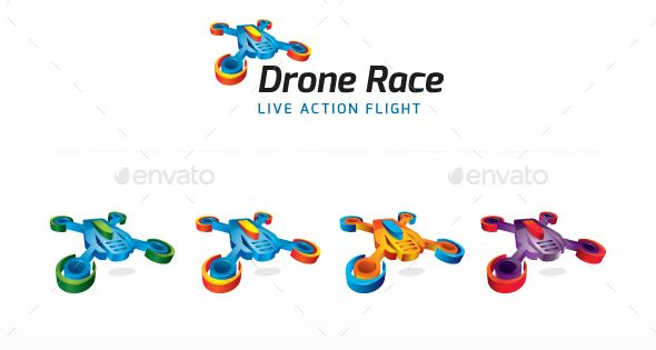 Drone Race Logo – Objects Logo Templates
