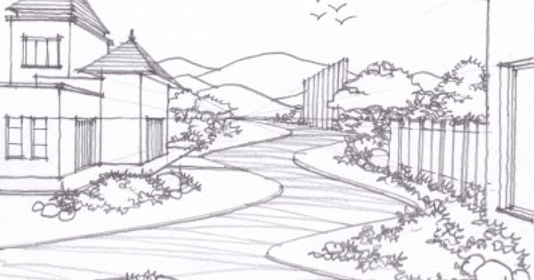 17 Best Scenery drawings images | Drawing ideas, Landscape ...