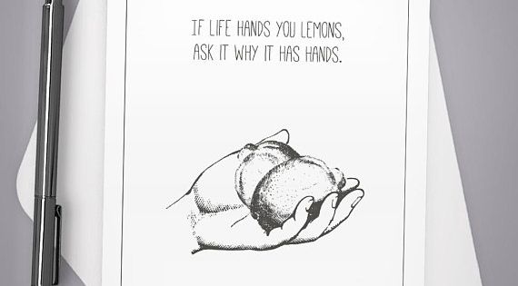 Greeting Card Life Hands You Lemons Card For Him Card For Etsy Funny Cards Funny Greeting Cards Greeting Cards