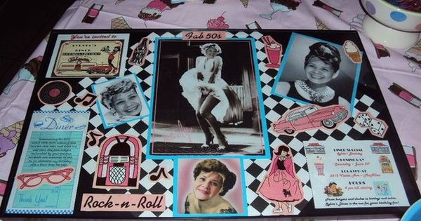 OMGeee..CUTE idea for a 50's dinner party theme for an adults bday...put