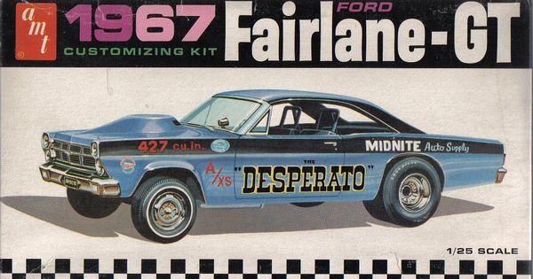 Body Kit Pick Up Futura >> 1/25 AMT 1967 Ford Fairlane-GT | Model Kit Box Art | Pinterest