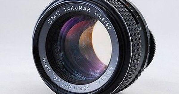 Smc Takumar 50mm F 1 4 For M42 Mount S86 Vintage Lenses Photography Lenses Pentax