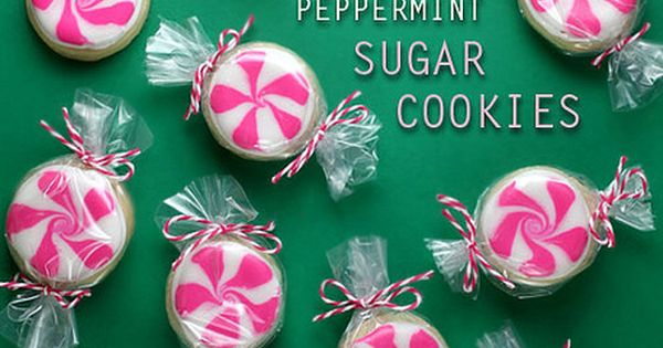 Peppermint Sugar Cookies for National Cookie Day!