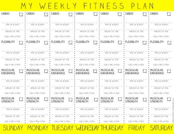 Personalized Fitness Plan Template A Pe And Health Education Resource Health Lesson Plans How To Plan Workout Plan