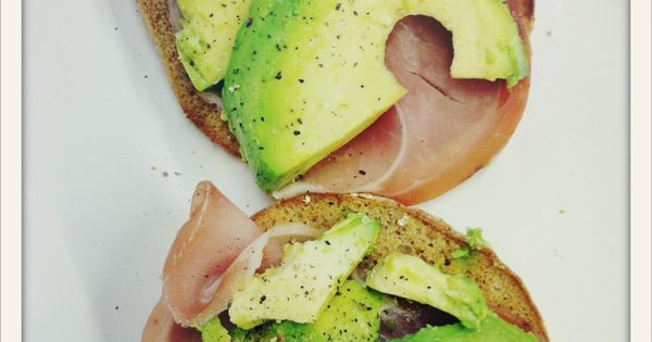 Avocado and Ham sandwiches for leftovers!