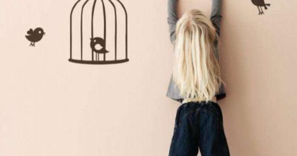 leuk die bird muurstickers home pinterest muurstickers kinderkamer en babykamer. Black Bedroom Furniture Sets. Home Design Ideas