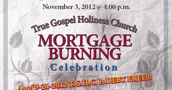Church Mortgage Burning Event | Invitations | Pinterest ...