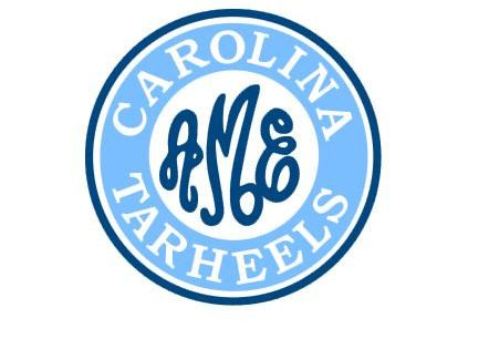 Unc Tarheels Monogram Instant Download Cut File Svg Dxf