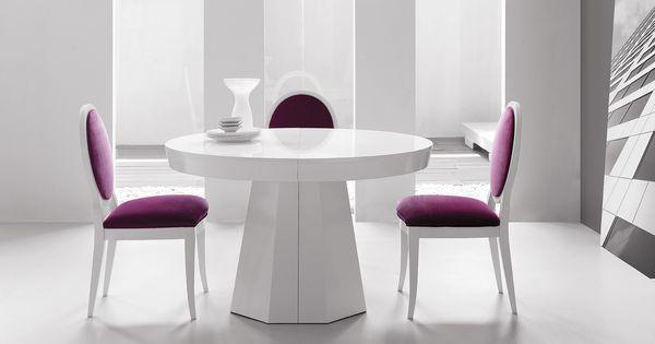Conjunto de mesa de comedor 120 x 120 cm extensible 200 for Comedor ovalado extensible