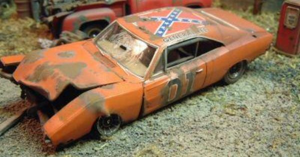 general lee wrecked dukes of hazzard car