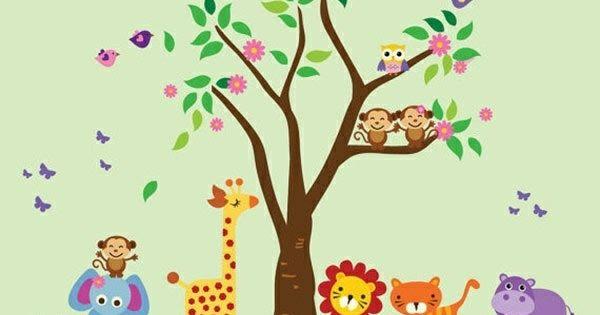 babyzimmer wandgestaltung 15 wanddeko ideen mit tieren lala pinterest babies babys and. Black Bedroom Furniture Sets. Home Design Ideas