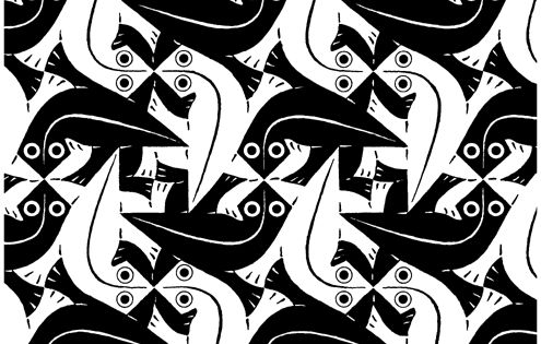 Download tessellation coloring pages m c escher for Mc escher tessellations coloring pages