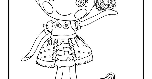 Lalaloopsy doll coloring pages silly hair jewel sparkles for Lalaloopsy jewel sparkle coloring pages