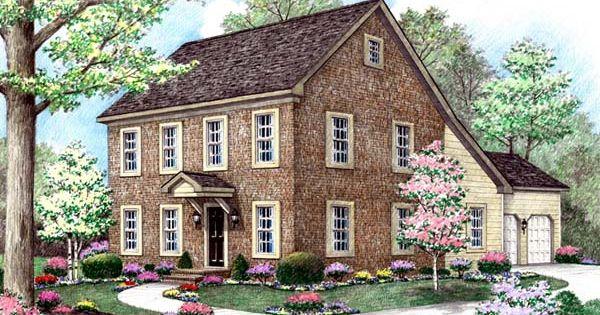 Farmhouse saltbox house plan 64402 house plans dark for Saltbox house plans with porch