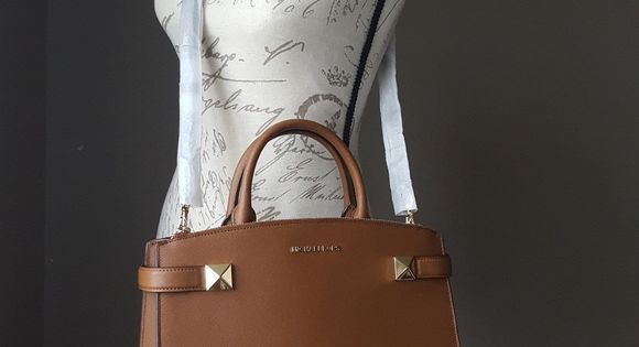 NWT Michael Kors MD Karla satchel brown bag purse 100