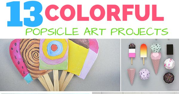 13 colorful popsicle ice cream crafts adorable summer art for Popsicle art projects