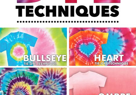 Learn how to tie dye with these 10 Tie Dye Technique DIYs...get