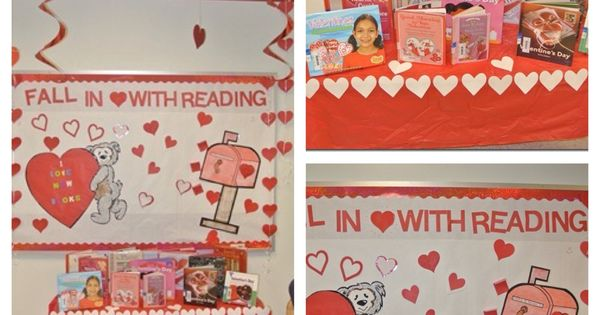 February Bulletin Board Fall In Love With Reading Cut
