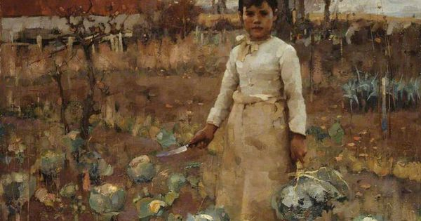 A Hinds Daughter - James Guthrie | Scottish Figurative ...