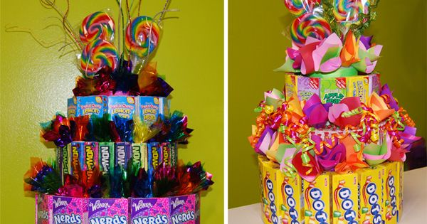 Candy theme cakes table decorations