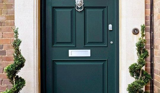 The Color Of The Moment Is Hunter Green Front Doors