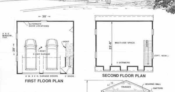 Colonial gambrel garage plans with loft 1524 1 by behm for Gambrel roof garage plans