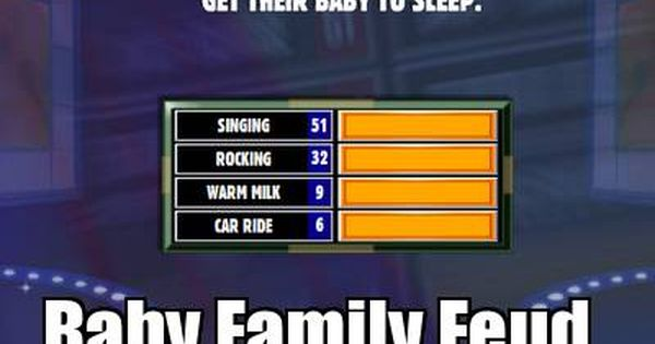 Baby Family Feud - UPDATED with Answers!!   Baby party ...