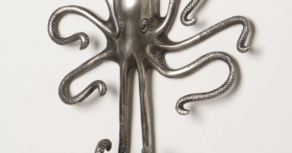 Octopus hook i visualize this house pinterest hooks octopus and bathroom - Coat hook octopus ...