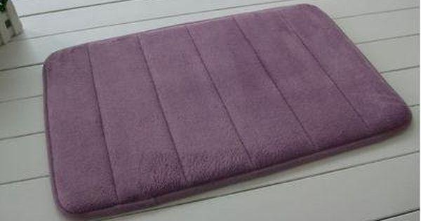 Slow Rebound Memory Foam Bath Mat Slip Resistant Absorbent Mats Doormat Carpet 60x40cm Purple Bath Rugs Sets Memory Foam Bath Mats Target Bath Rug