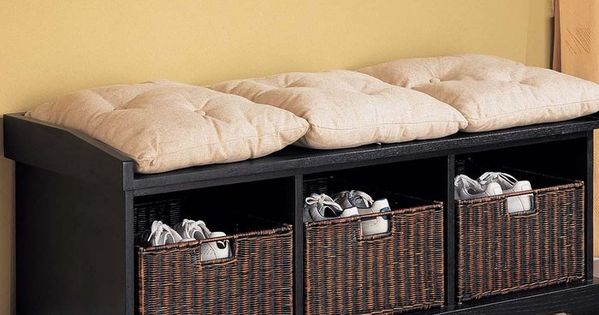 Cushion ideas for a bench in the mud room