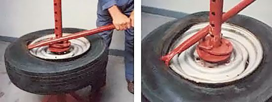 A Do It Yourself Manual Tire Changer Diy Mother Earth News Garage Tools Homemade Tools Car Tools