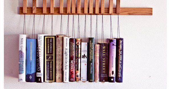 Book shelves and racks | OAK WOODEN BOOK RACK contemporary-wall-shelves