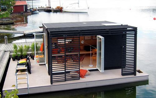 Small house on a dock