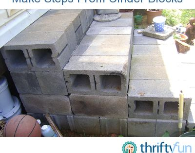 Making steps with cinder blocks them the cottage and for Steps to building a house